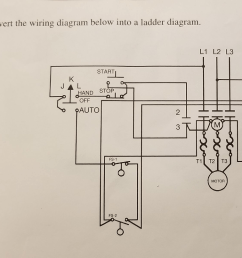 convert the wiring diagram below into a ladder diagram l1 l2 l3 start [ 1024 x 806 Pixel ]