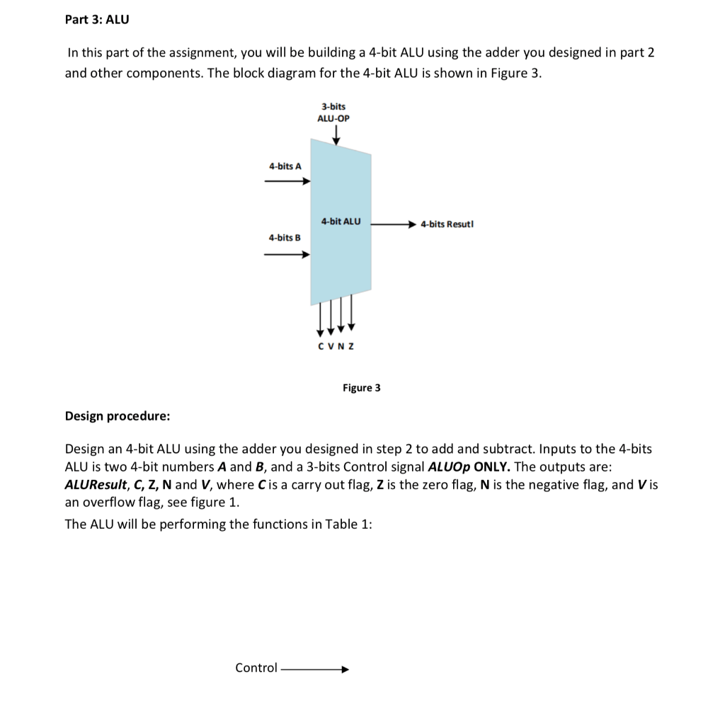 medium resolution of part 3 alu in this part of the assignment you will be building a