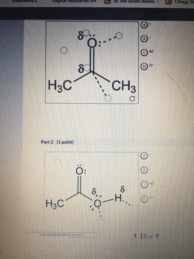 hight resolution of  if any ion dipole interactions occur between the solvent and the sodium and chloride ions in parts 1 and 2 there are four labels to place but five