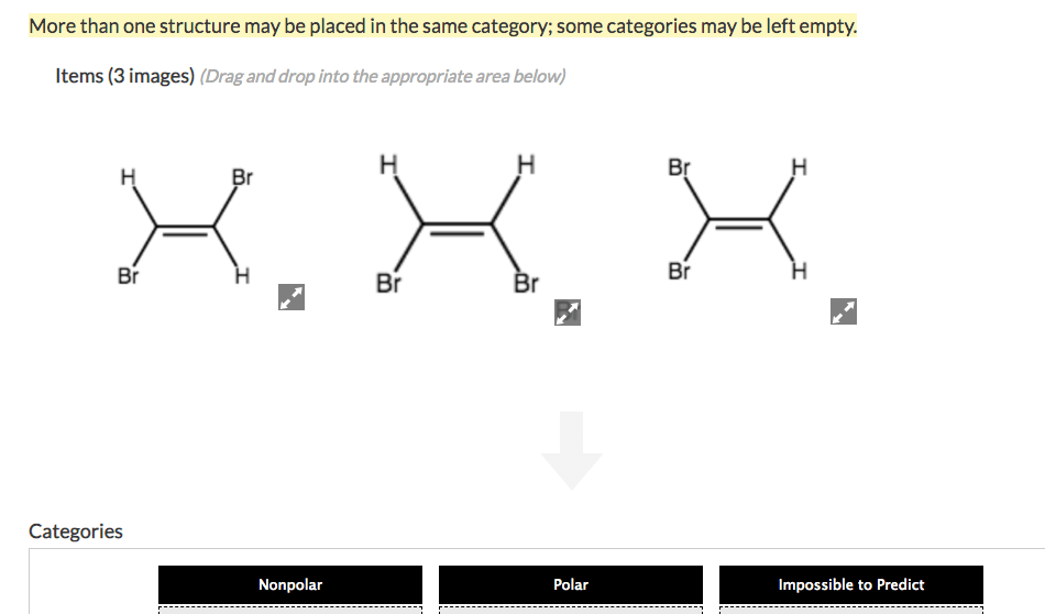 Solved: Sort The Molecules Below By The Overall Polarity