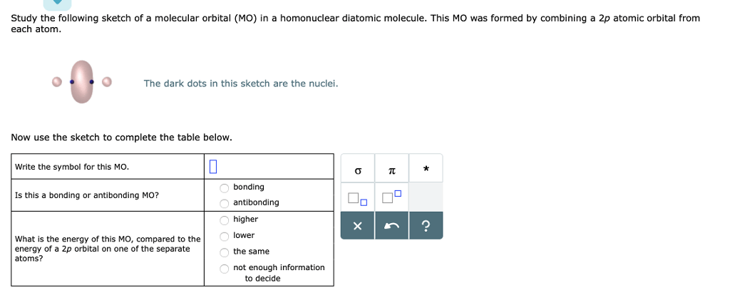 Solved: Study The Following Sketch Of A Molecular Orbital