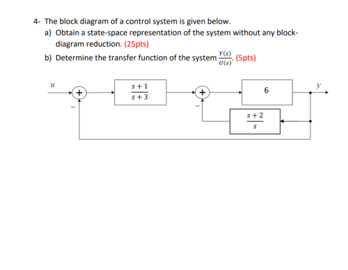 small resolution of 4 the block diagram of a control system is given below a obtain