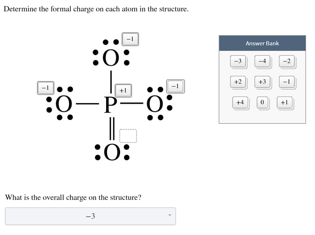 Solved: Determine The Formal Charge On Each Atom In The St