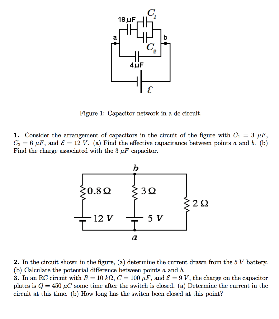 hight resolution of 18 uf 2 figure 1 capacitor network in a dc circuit i consider