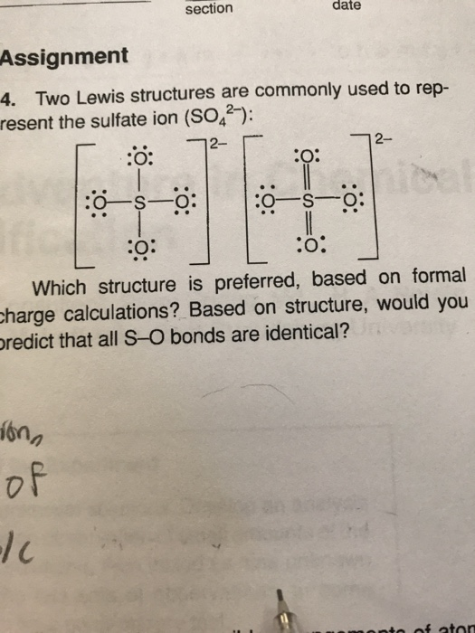 So2 Lewis Dot : lewis, Solved:, Section, Assignment, Lewis, Structures, Chegg.com