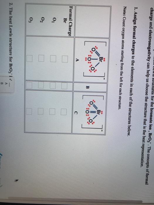 Bro3- : bro3-, Solved:, Bromate, Concepts, Formal..., Chegg.com
