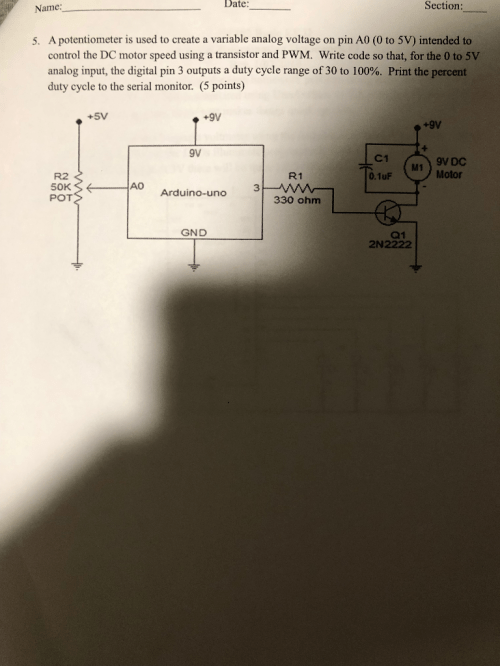small resolution of a potentiometer is used to create a variable analog voltage