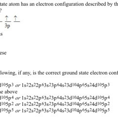 Orbital Diagram For Arsenic Cat5e Wall Jack Wiring Solved Which Ground State Atom Has An Electron Configurat Question Configuration Described By The Following