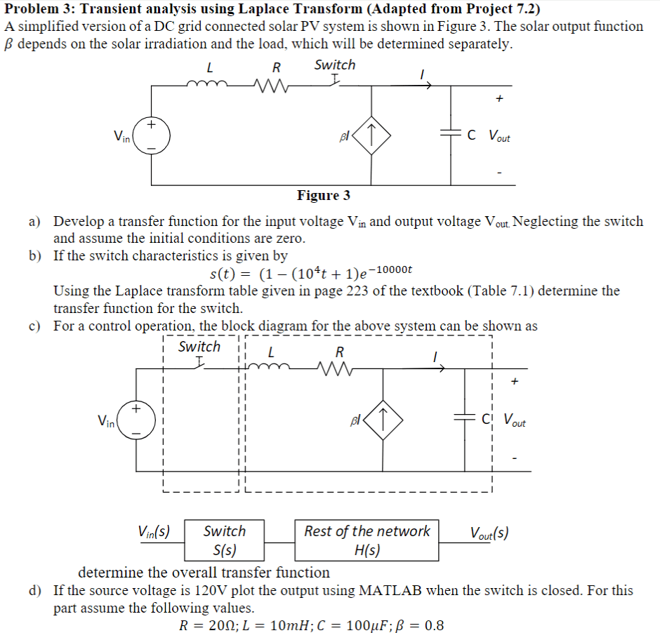 medium resolution of problem 3 transient analysis using laplace transform adapted from project 7 2 a simplified