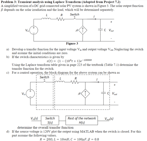 small resolution of problem 3 transient analysis using laplace transform adapted from project 7 2 a simplified