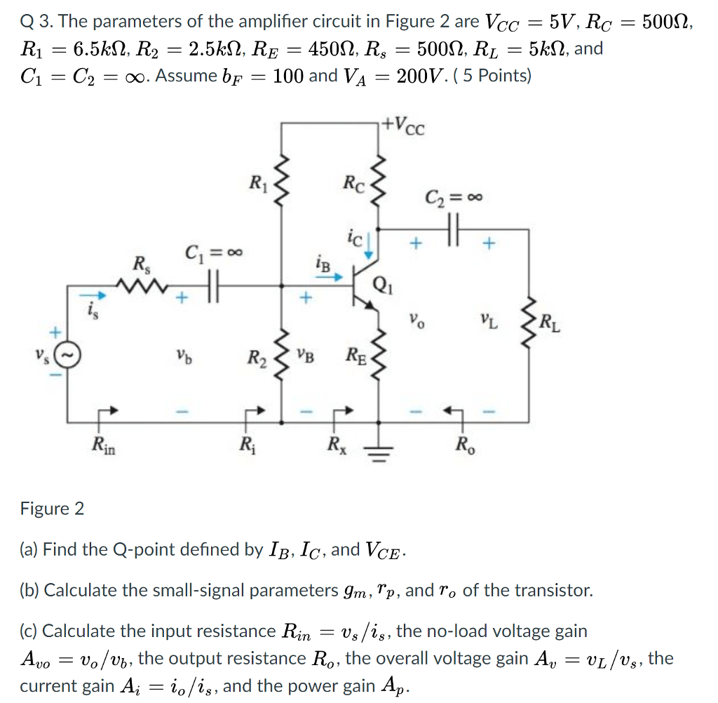 hight resolution of the parameters of the amplifier circuit in figure 2 are vcc 5v