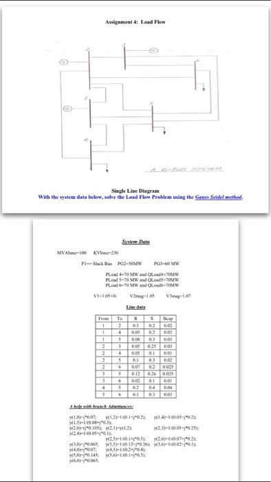 Solved: 4: Load Flow Single Line Diagram With The System D