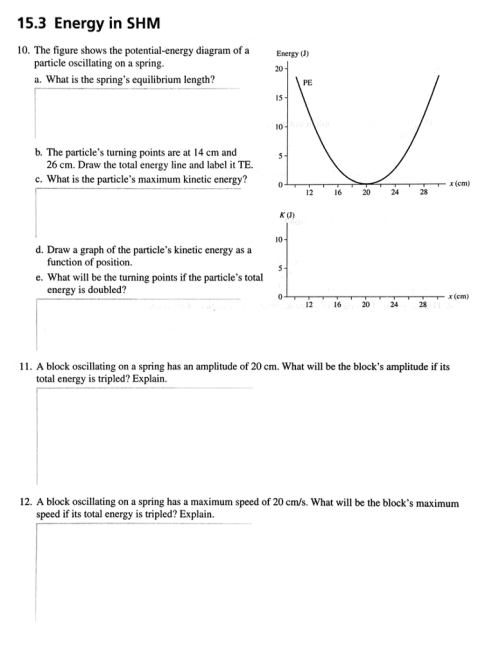 small resolution of 15 3 energy in shm 10 the figure shows the potential energy diagram of a
