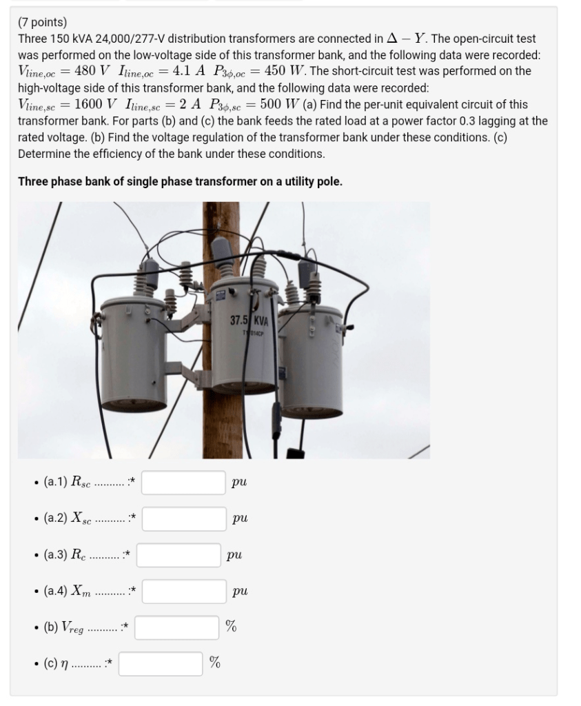 medium resolution of  7 points three 150 kva 24 000 277 v distribution transformers are connected