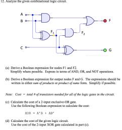analyze the given combinational logic circuit a o o g  [ 936 x 1024 Pixel ]