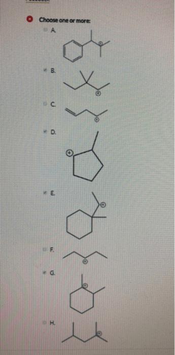 Methyl Shift Vs Hydride Shift : methyl, shift, hydride, Solved:, Select, Molecules, Readily, Unde..., Chegg.com