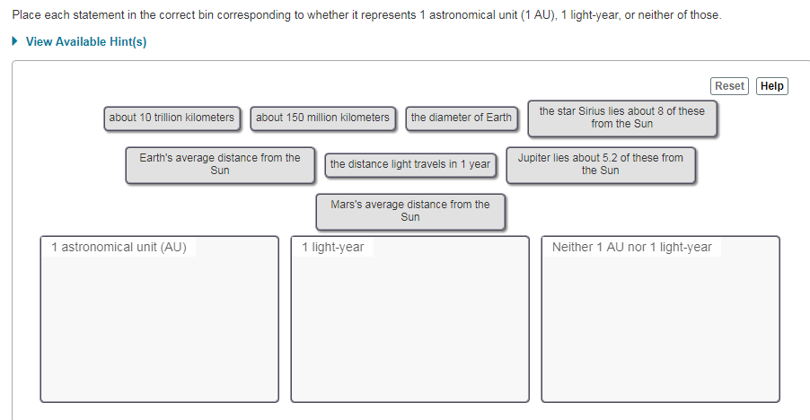 Solved: Place Each Statement In The Correct Bin Correspond