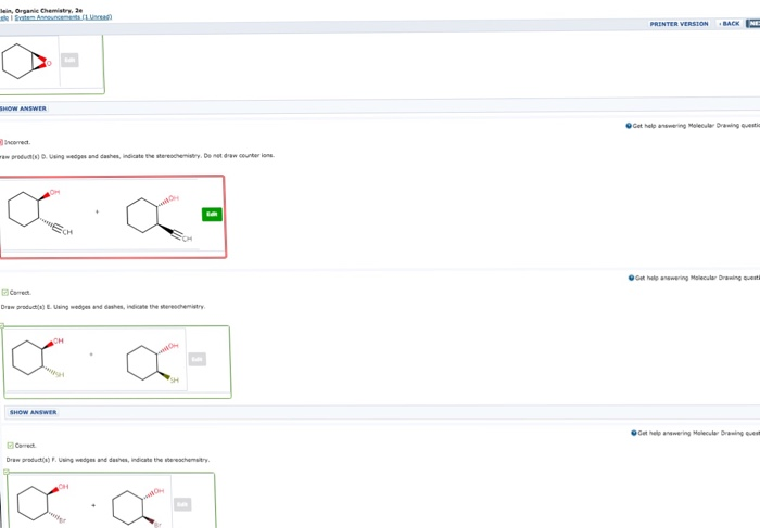 Solved: Klein, Organic Chemistry, 2e Practice Problem 14.5