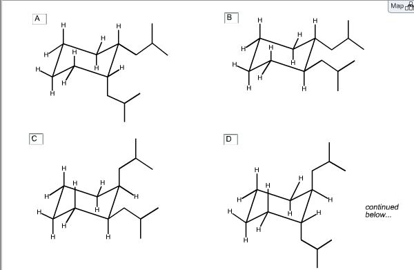 Below Are Isomers Of 1,2-di(2-methylpropyl)cyclohexane