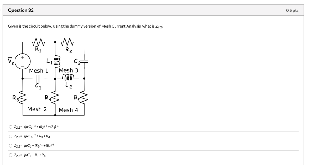 Solved: Question 25 0.5 Pts Given Is The Circuit Below. Th