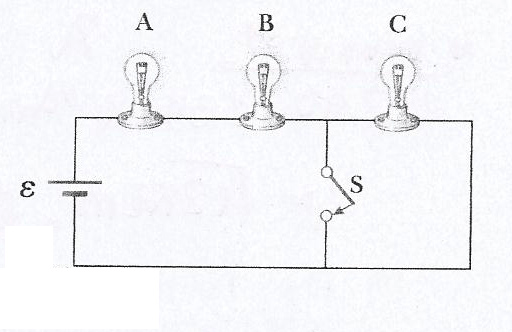 Three Identical Lights Are Connected To A Battery