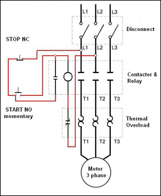3 Phase Motor Wiring Diagram / Three Phase Motor Power
