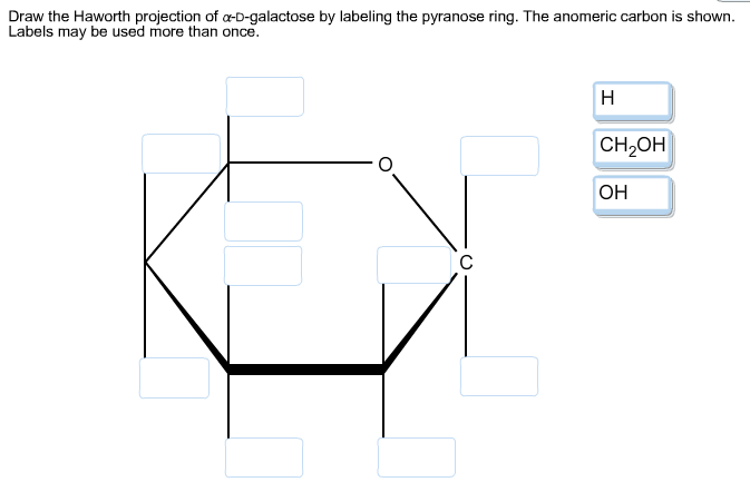 Draw The Haworth Projection Of Alpha-D-galactose