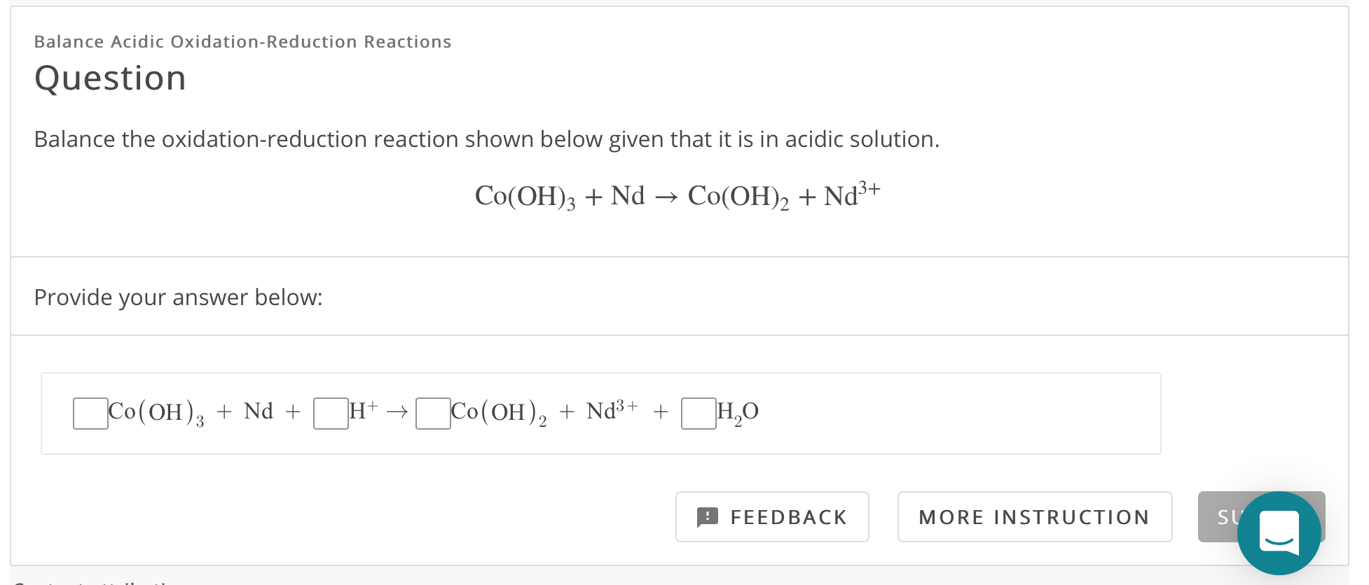Solved: Balance Acidic Oxidation-Reduction Reactions Quest