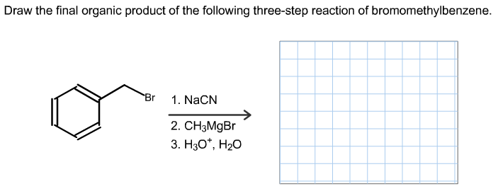 Draw The Final Organic Product Of The Following