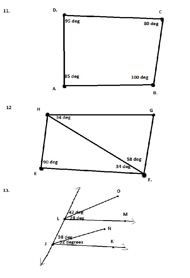 Items 11-13 State Which Lines, Segments, Or Rays