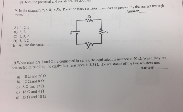 All The Above Are Parallel Resistor Circuits