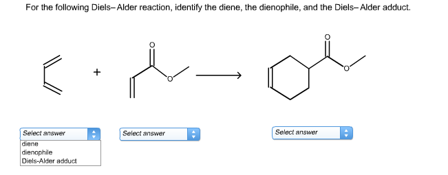 For The Following Diels-Alder Reaction, Identify