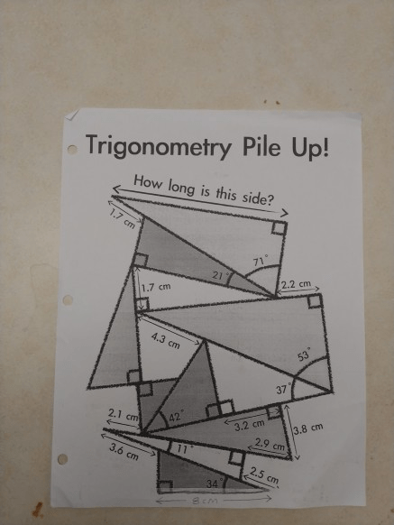 Two or more of these points are called vertices. Trigonometry Pile Up How Long Is This Side 2 2 Cm Chegg Com