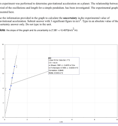 an experiment was performed to determine gravitational acceleration on a planet the relationship between period [ 1024 x 1017 Pixel ]
