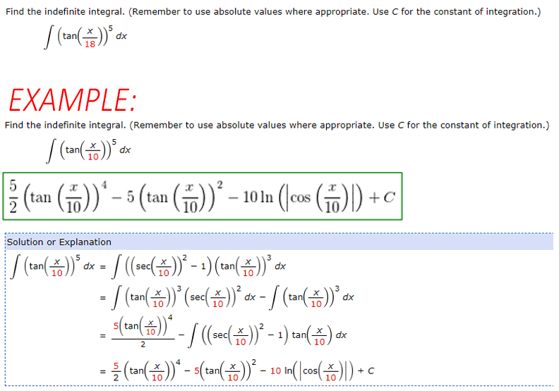 Solved: Find The Indefinite Integral. (Remember To Use Abs... | Chegg.com
