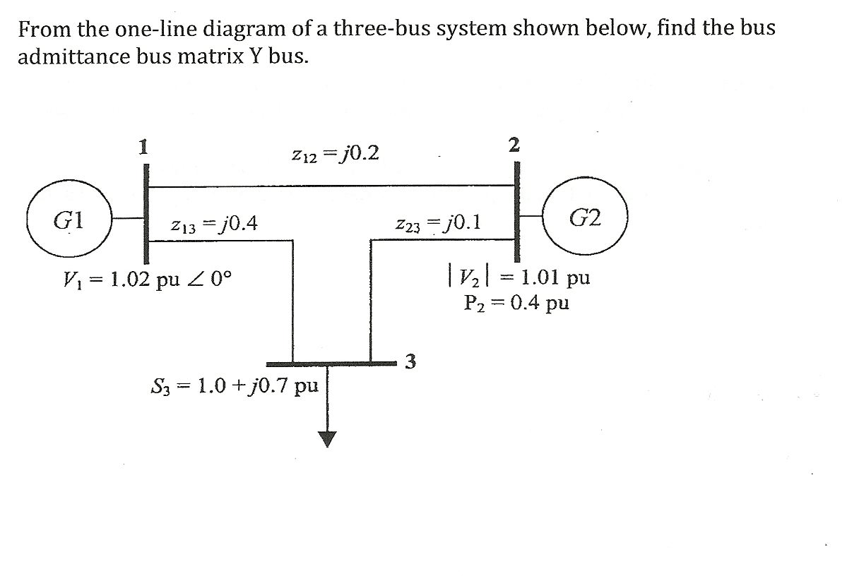 one line diagram example wiring for trailer brake away from the of a three bus system