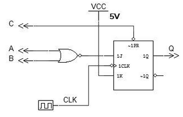 Develop The VHDL Text File For The Circuit Shown Below