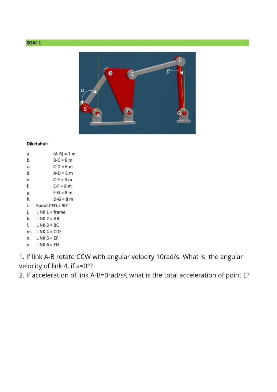 Diketahui A = : diketahui, Solved:, Angular, Velocity, Total, Acce..., Chegg.com