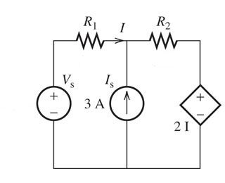 Assume That Vs=13V, R1=2.1 Ohms And R2=0.50 Ohms