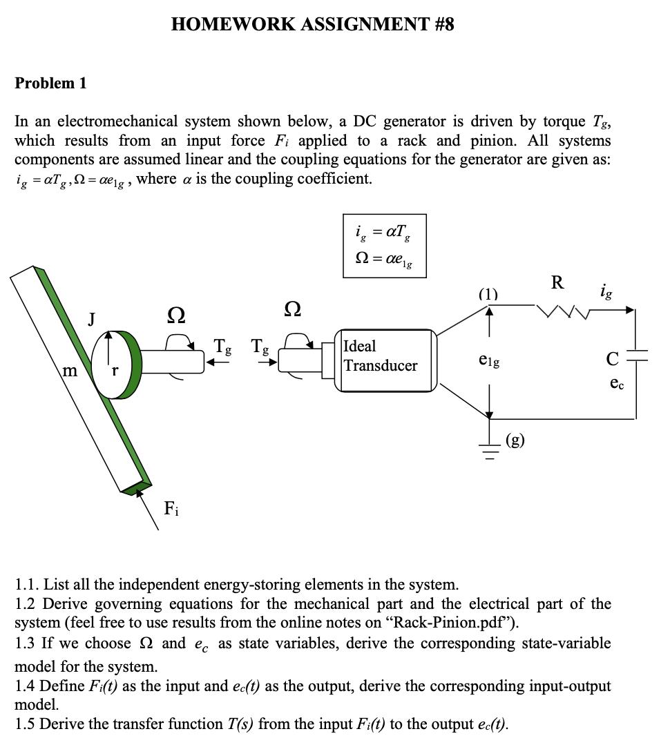 homework assignment 8 problem 1 in an