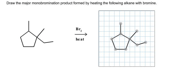 10-18 Draw the major monobromination product formed by