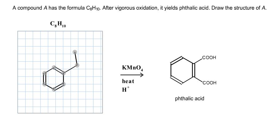 A Compound A Has The Formula C8H10. After Vigorous