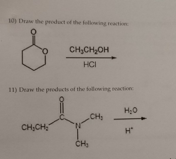 Solved: 10) Draw The Product Of The Following Reaction: CH... | Chegg.com