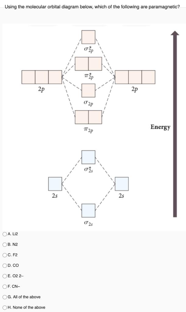 N2+ Molecular Orbital Diagram : molecular, orbital, diagram, Solved:, Using, Molecular, Orbital, Diagram, Below,, Which, Chegg.com