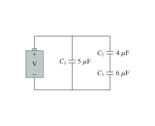 What Is The Charge On Each Capacitor In The Figure