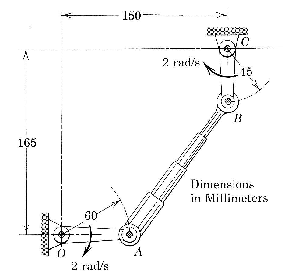 Determine The Angular Velocity Of The Telescoping