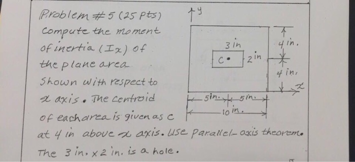 Solved: Compute The Moment Of Inertia (I_x) Of The Plane A