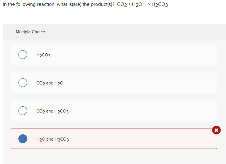 Solved: In The Following Reaction, What Is(are) The Produc