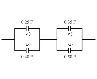 A) For The Capacitor Network Shown In The Figure