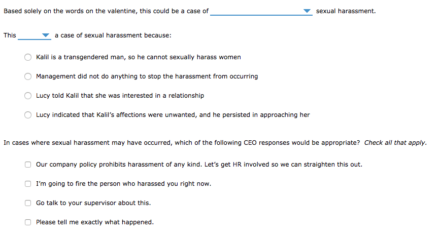 Solved: 4. Sexual Harassment On Valentine's Day (Connect